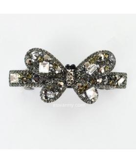 Sparkling Full Crystal Butterfly Barrette