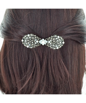 Vintage Inspired Crystal Bow Barrette (Cilp Paris)