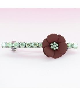 Sparkling Crystal Flower Barrette