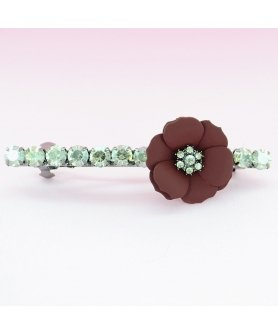 Sparkling Crystal Flower Barrette
