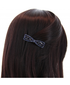 Rhinestone Bow Barrette (Clip France )