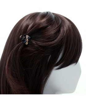 Lavish Crystal Bow Hair Jaw (Mini)