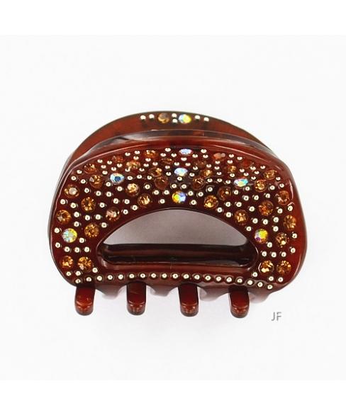 Luxurious Cellulose Acetate Handmade Crystla Jaw