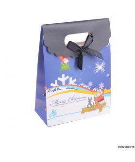Velcro Flap Closure Bow Deco Mix Printed Gift Bag