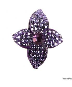 Reflex Crystal Covered Flower Mini Pinch Clip