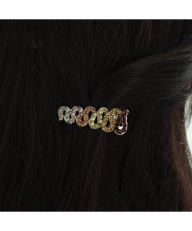 Shimmering Crystal Pinch Clip