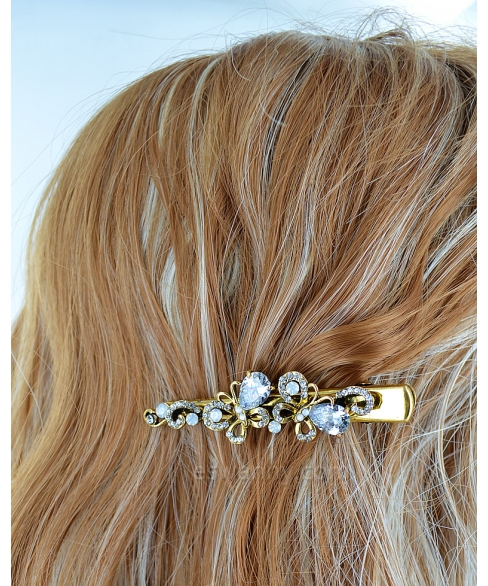 Glamorous Cubic Zirconia Butterfly Alligator Clip