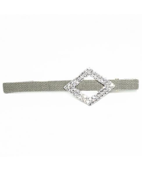 Crystal Cutout Diamond Alligator Clip