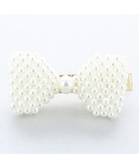Imitation Pearl Bow Alligator Clip/Hair Clip