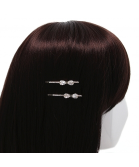 Crystal Bow Bobby Pin (2-Pack)