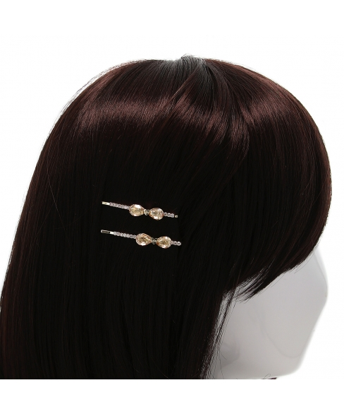 Crystal Bow Bobby Pin (2-Pack)