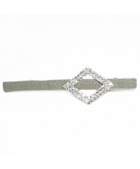 Crystal Cutout Diamond Alligator Clip