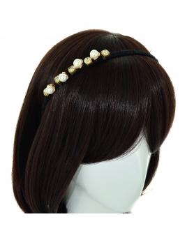Crystal & Faux Pearl Headband