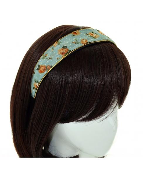 Vintage Inspired Floral Chiffon Headband