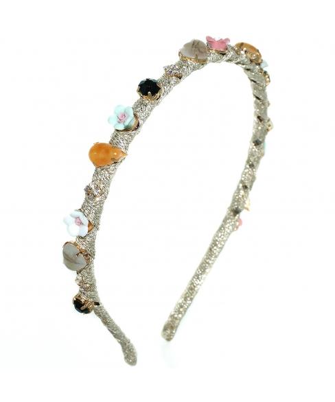 Romantic Roses, Gemstone, Crystal Emboss Headband