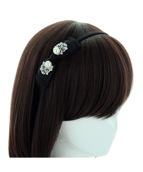Crystal Deco Bow Headband