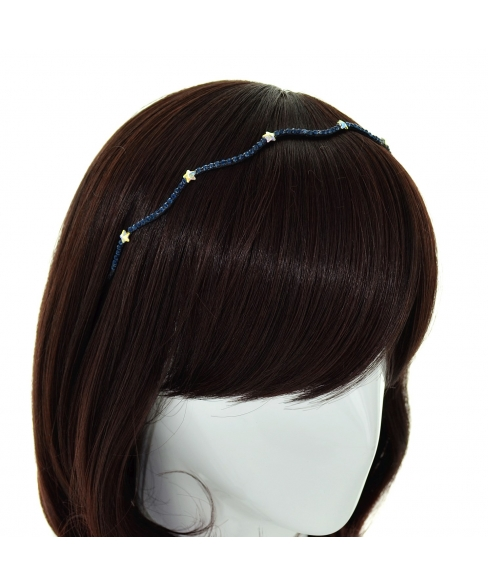 Skinny Wave Crystal Star Headband