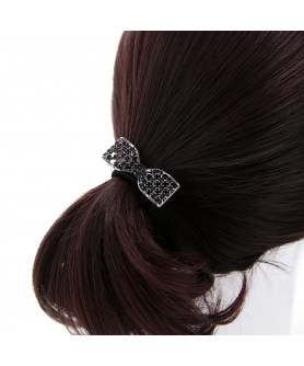 Australian Crystal-Embellished Bow Hair Tie