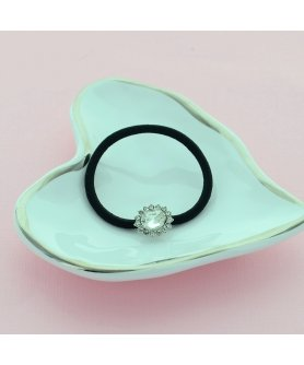 Crystal Oval Ponytail Holder