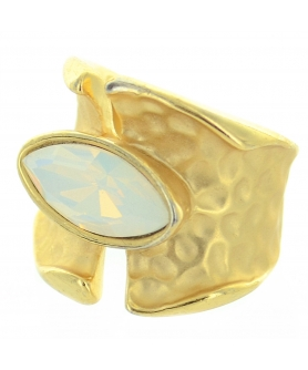 Matte Gold Tone Modern Art Ring