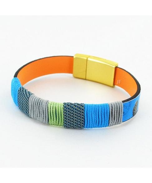 Mix Print Magnetic Closure Bracelet