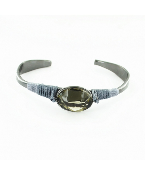 Crystal and Threads Wrapped Cuff