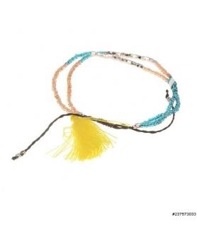 Bead Tassel Adjustable SlideClosure Bracelet 6-8''