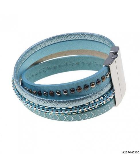 Studded Twist Magnetic Closure Bracelet