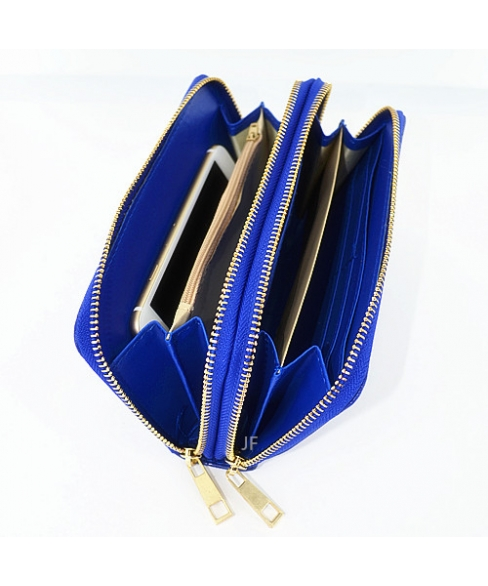 Everything Doudle Zip Around Faux Leather Wallet