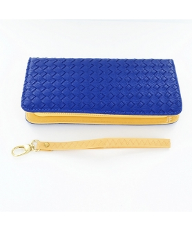 Woven Embossed Faux Leather Smarthpone Wallet
