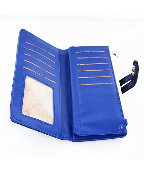 Adjustalbe Woven Embossed FauxLeather Phone Wallet