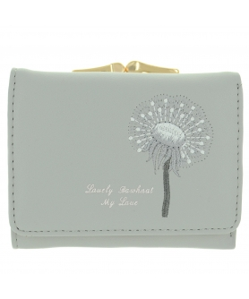 Dandelion Vegan Leather Trifold Wallet