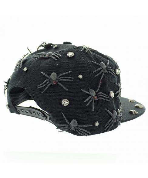 Unsex Spider Me Crystal Studded Baseball Cap