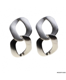 Glossy Matte Finished Link Drop Earring