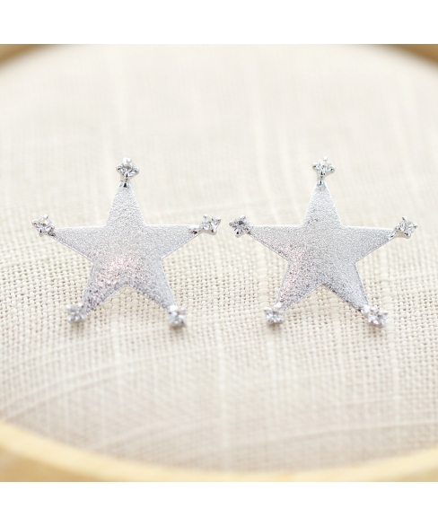 Crystal Deco Star Earring