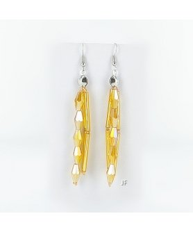 Crystal Beaded Stainess Steel Earring