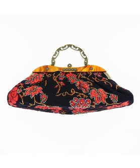 Vintage Inspired Beaded Embroidery Tapestry Bag