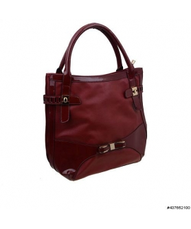 LiquidShine Vegan Patent Leather trim shoulder Bag