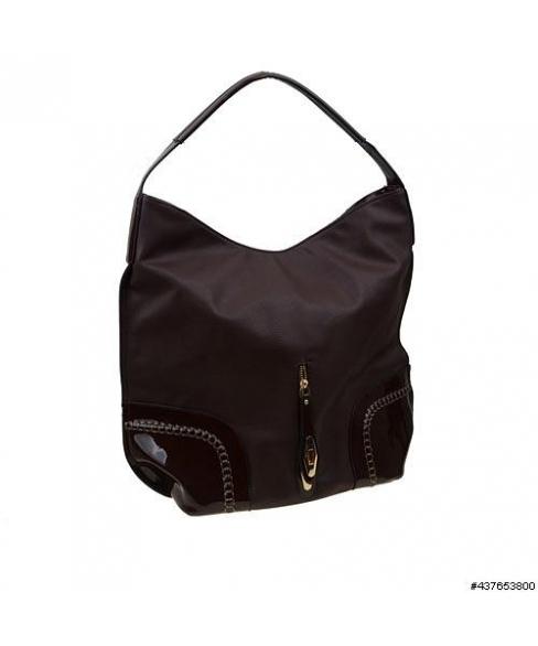 Liquid-Shine Vegan Patent Leather trim Hobo Bag