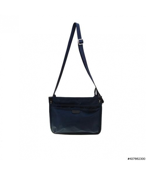 Lightweight Nylon Triple Compartment CrossBody Bag