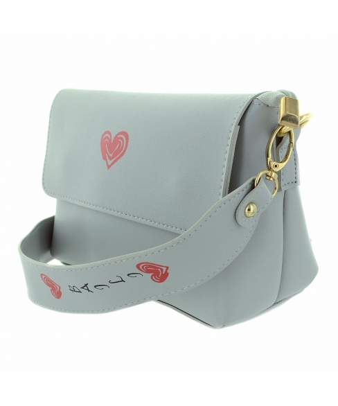 Love Heart Faux Leather Crossbody Bag
