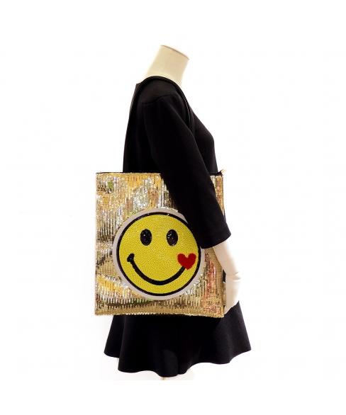 Happy Face Sequin Tote