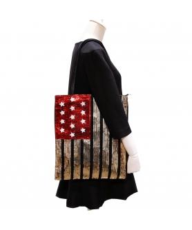 Over-the-shoulder Flag Sequin Tote