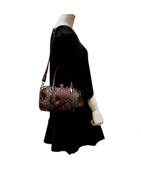 Top Carry Handles Buttrtfly Crystal Woven Bag