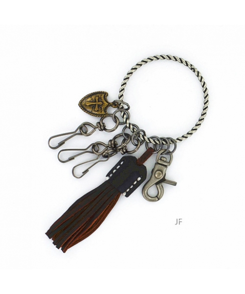 The Biker Leather Key Chain