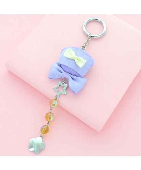 Bear Bag Charm With Hanging Crystal