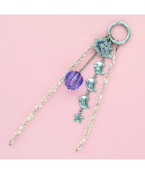 Happy Chicks Crystal & Beads Bag Charm.