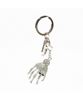 Crystal Finger Bone Bag Charm