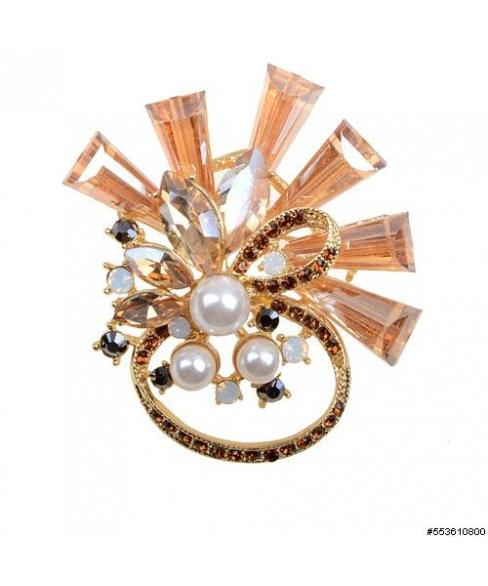 Contemporary Crystal Pin