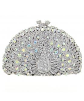 Crystal-Embellished Peaco, White